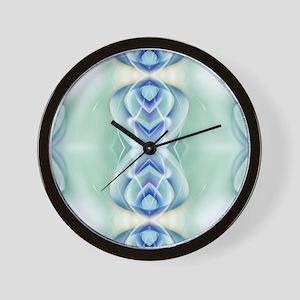 ombre mint blue geometric Wall Clock