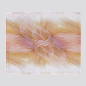 hipster ombre flower watercolor Throw Blanket