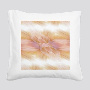 hipster ombre flower watercol Square Canvas Pillow
