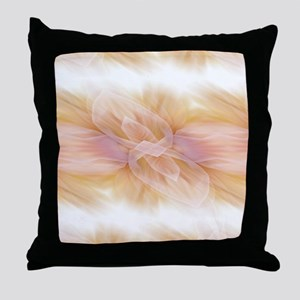 hipster ombre flower watercolor Throw Pillow