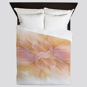 hipster ombre flower watercolor Queen Duvet