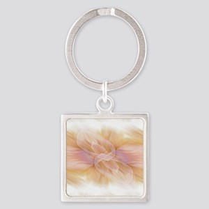 hipster ombre flower watercolor Square Keychain