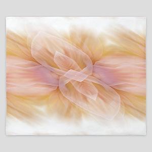hipster ombre flower watercolor King Duvet