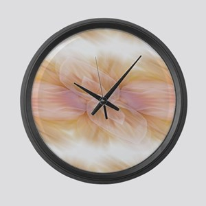 hipster ombre flower watercolor Large Wall Clock