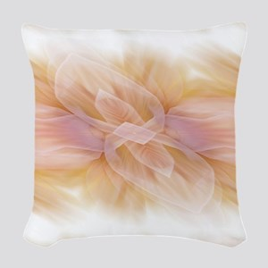 hipster ombre flower watercolo Woven Throw Pillow