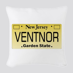 Ventnor NJ Tag Giftware Woven Throw Pillow