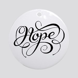 Hope (Looping) Round Ornament