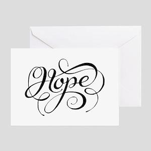 Hope (looping) Greeting Cards