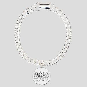 Hope (looping) Bracelet Charm Bracelet, One Charm