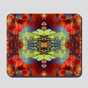 exotic hipster orange batik Mousepad