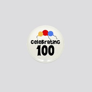 Celebrating 100 Mini Button