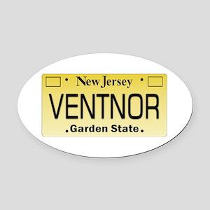 Ventnor NJ Tag Giftware Oval Car Magnet