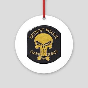 Detroit PD Gang Squad Round Ornament