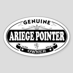 ARIEGE POINTER Oval Sticker