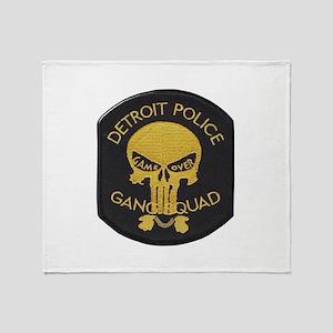 Detroit PD Gang Squad Throw Blanket