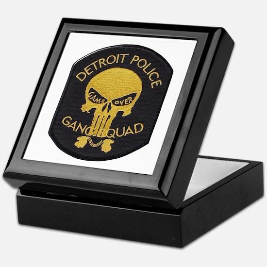 Detroit PD Gang Squad Keepsake Box