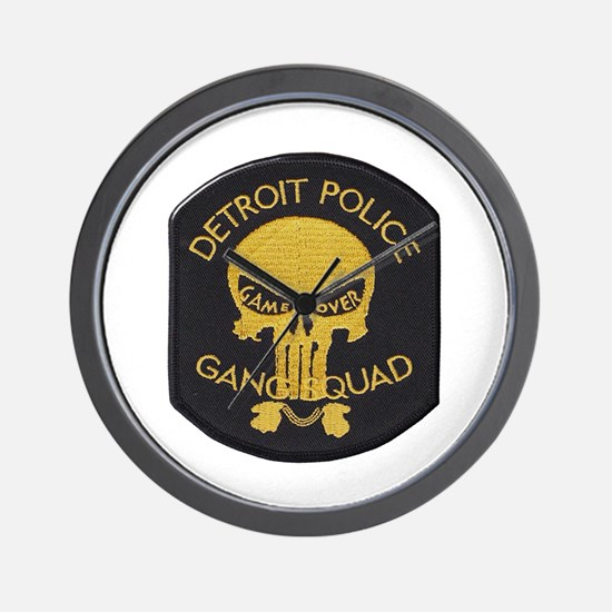 Detroit PD Gang Squad Wall Clock