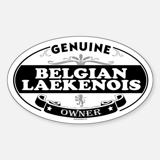 BELGIAN LAEKENOIS Oval Decal