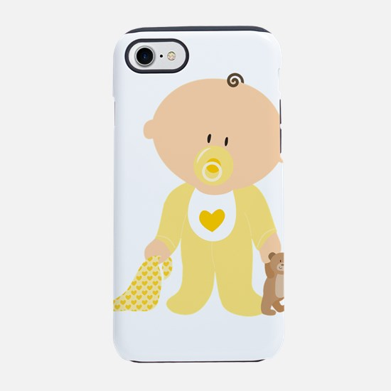Cute Baby in Yellow iPhone 8/7 Tough Case
