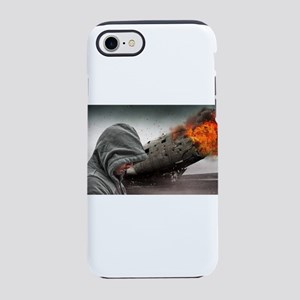 Man Beside Flaming Blimp iPhone 8/7 Tough Case