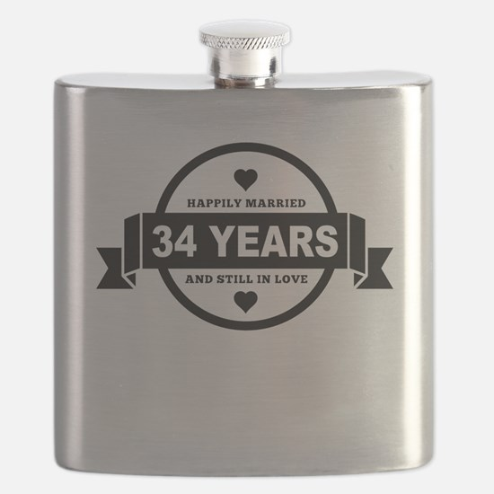 Happily Married 34 Years Flask