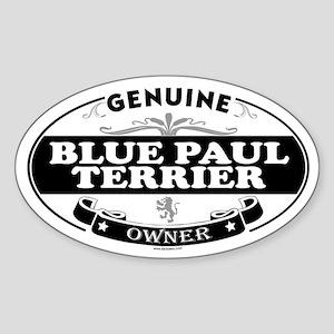 BLUE PAUL TERRIER Oval Sticker