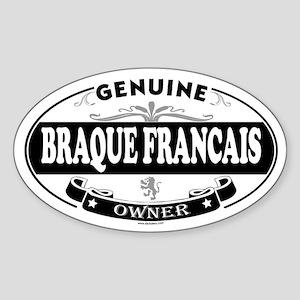 BRAQUE FRANCAIS Oval Sticker