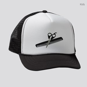 ScissorsComb052010 Kids Trucker hat