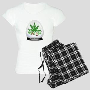 Merry Christmas Marijuana S Women's Light Pajamas
