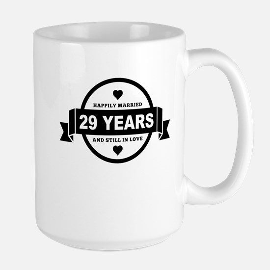 Happily Married 29 Years Mugs