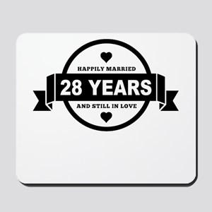Happily Married 28 Years Mousepad