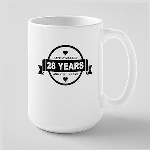 Happily Married 28 Years Mugs