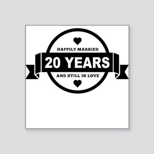 Happily Married 20 Years Sticker