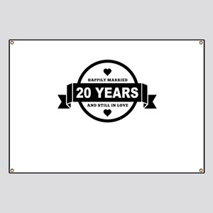 Happily Married 20 Years Banner