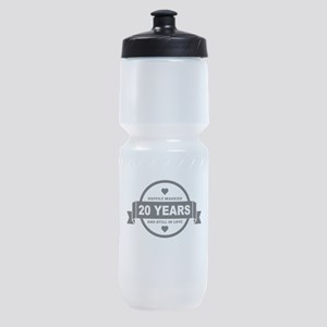 Happily Married 20 Years Sports Bottle