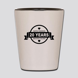 Happily Married 20 Years Shot Glass