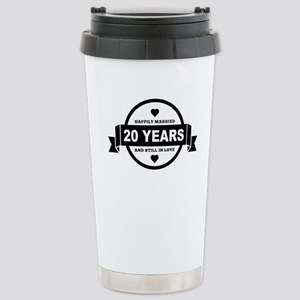 Happily Married 20 Years Travel Mug