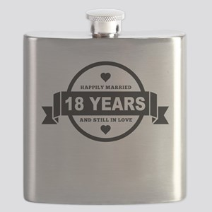 Happily Married 18 Years Flask