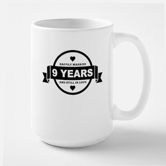 Happily Married 9 Years Mugs