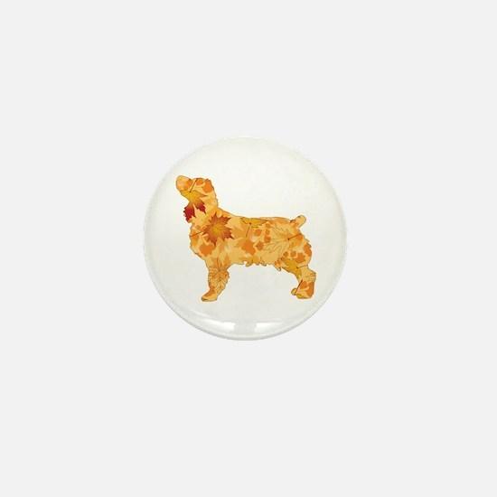 Brown Dog Fall Mini Button