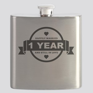 Happily Married 1 Year Flask