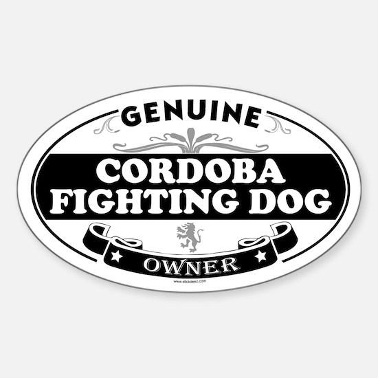 CORDOBA FIGHTING DOG Oval Decal