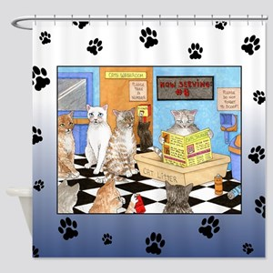 Cat 522 Shower Curtain