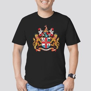Melbourne Coat of Arms Men's Fitted T-Shirt (dark)