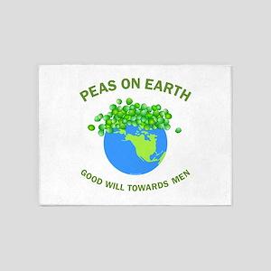 Peas On Earth 5'x7'Area Rug