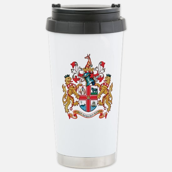 Melbourne Coat of Arms Stainless Steel Travel Mug