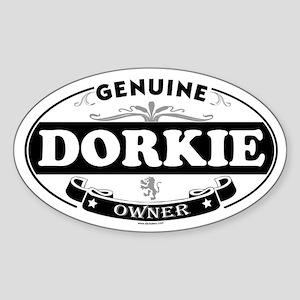 DORKIE Oval Sticker