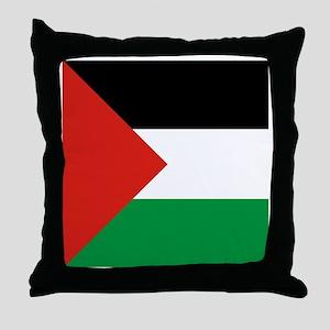 Square Palestinian Flag Throw Pillow