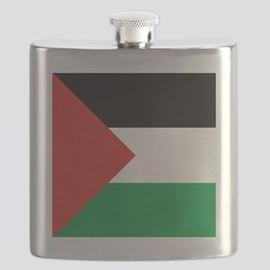 Square Palestinian Flag Flask