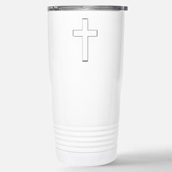 crosswhiteshadow2.png Travel Mug